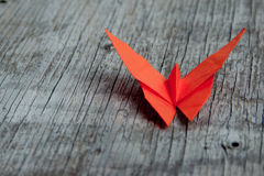 De vlinder van de origami Stock Foto