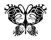 De vlinder van de tatoegering stock illustratie