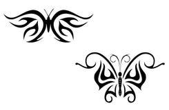 De vlinder van de tatoegering Stock Foto's