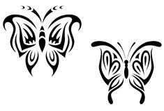 De vlinder van de tatoegering royalty-vrije illustratie