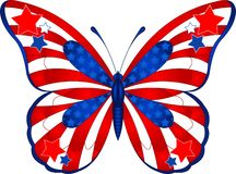 De vlinder van de V.S. Royalty-vrije Stock Afbeeldingen