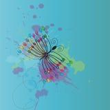 De vlinder van Grunge Stock Afbeeldingen