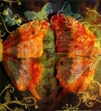 De vlinder van Grunge Stock Fotografie