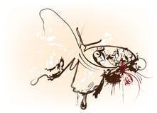 De vlinder van Grunge abstracte Royalty-vrije Stock Afbeeldingen