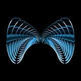 De vlinder van het metaal Stock Afbeeldingen