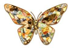 De vlinder van het mozaïek Stock Afbeelding