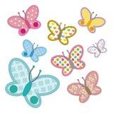 De Vlinder van het patroon Stock Afbeelding