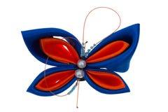 De vlinder van het stuk speelgoed die van linten wordt gemaakt Royalty-vrije Stock Foto