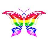 De vlinder van de regenboog stock afbeeldingen