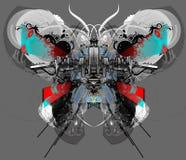 De Vlinder van Techno. Stock Afbeelding