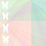 De vlinderachtergrond van de pastelkleur Vector Illustratie