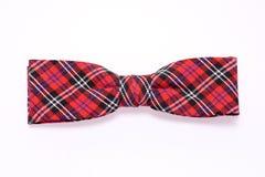 De Vlinderdas van het geruite Schotse wollen stof Royalty-vrije Stock Foto's