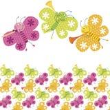 De vlinderpatroon van de kleur Royalty-vrije Stock Afbeeldingen