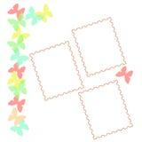 De vlinderplakboek van de pastelkleur Royalty-vrije Stock Afbeelding