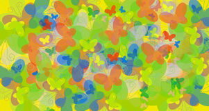 De vlinders van de kleur Stock Afbeelding