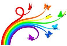 De vlinders van de regenboog vector illustratie