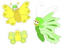De vlinders van het beeldverhaal Stock Afbeelding