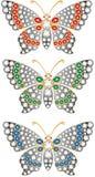 De vlinders van juwelen Stock Afbeeldingen