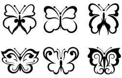 De vlinders van vormen Stock Afbeeldingen