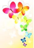 De vlinders vectorachtergrond van de regenboog Royalty-vrije Stock Foto