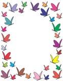 De vlindersframe van de kleur Stock Afbeeldingen