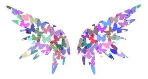 De vlindervleugels van de engel Stock Foto