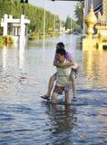 De Vloed Oktober 2011 van Bangkok Stock Foto