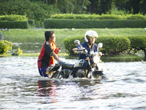 De Vloed Oktober 2011 van Bangkok Stock Foto's