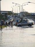 De Vloed Oktober 2011 van Bangkok Stock Afbeeldingen