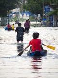 De Vloed Oktober 2011 van Bangkok royalty-vrije stock foto's