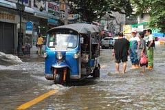 De vloed van Bangkok. Stock Afbeelding