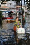 De Vloed van Bangkok Royalty-vrije Stock Afbeeldingen