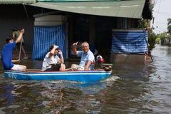 De vloed 2011 van Bangkok Stock Afbeelding