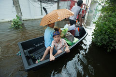De vloed 2011 van Bangkok Royalty-vrije Stock Foto's