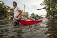 De vloed 2011 van Bangkok Stock Foto