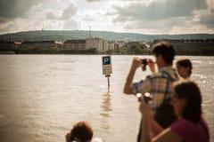 De vloed van Boedapest Royalty-vrije Stock Afbeeldingen