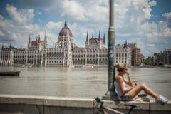 De vloed van Boedapest Stock Foto's