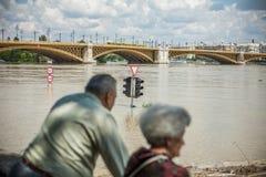 De vloed van Boedapest Stock Afbeeldingen