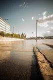 De vloed van Boedapest Stock Foto