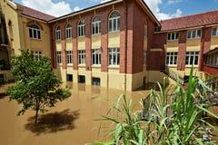 2011 de vloed van Brisbane, Milton State School Stock Fotografie