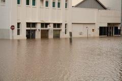 De Vloed van Brisbane: Winkels stock afbeeldingen