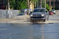 De Vloed 2013 van Calgary Stock Foto