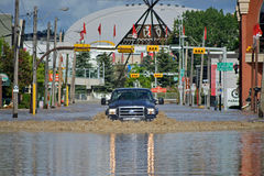 De Vloed 2013 van Calgary Royalty-vrije Stock Afbeeldingen