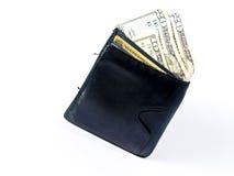 De Vloed van de portefeuille met Contant geld Royalty-vrije Stock Afbeeldingen