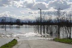 De Vloed van de rivier Royalty-vrije Stock Fotografie