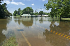 De vloed van de Rivier van de Mississippi - St. Francisville stock afbeelding
