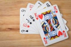 De Vloed van het kaartenspel Royalty-vrije Stock Afbeeldingen