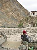 De vloed van Ladakh Stock Foto's