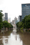 De Vloed van Queensland: Zuid- Brisbane Royalty-vrije Stock Afbeeldingen
