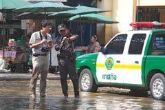 De vloed van Thailand. Royalty-vrije Stock Foto's